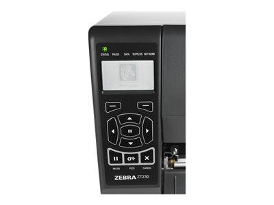 Stampante per etichette Zebra ZT230 - zoom monitor