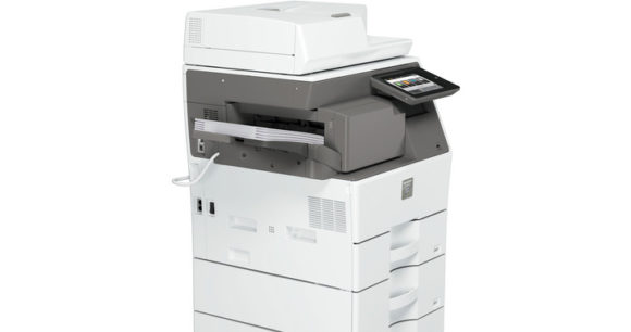 stampante multifunzione sharp MX-B455W - lato carta