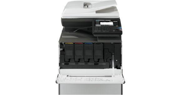 stampante multifunzione sharp mx-c301 - vano toner e cartucce