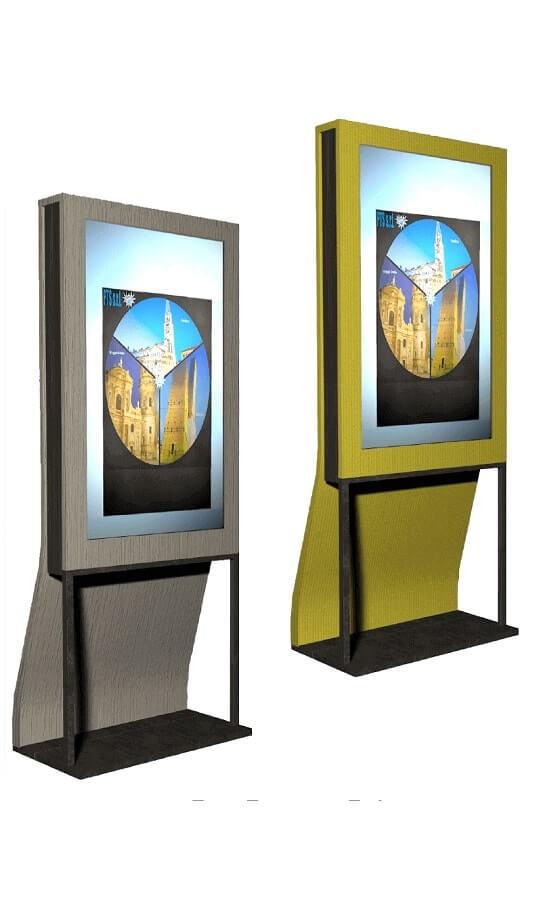 totem per Digital Signage legno-acciaio - PTS srl