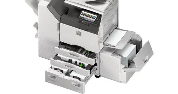 stampante multifunzione sharp mx3051 - mx2651 cassetti carta aperti