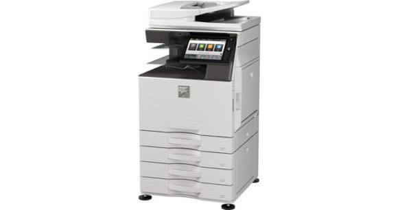 stampante multifunzione sharp mx3051-mx2651 fronte-fianco senza cassetti aggiuntivi laterali