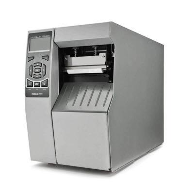 vista di fronte di modello zt510 stampante etichette adesive Zebra