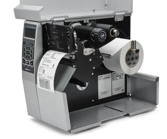lato aperto con nastro in vista di modello zt510 stampante etichette adesive Zebra