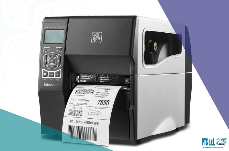 modello stampante etichette adesive Zebra formato industriale a traferimento termico