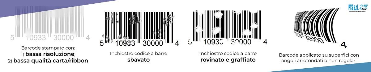 esempi errori di stampa codice a barre su etichette adesive