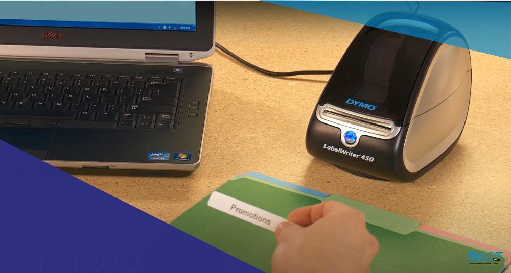 stampante etichette adesive formato desktop per archiviazione documentale