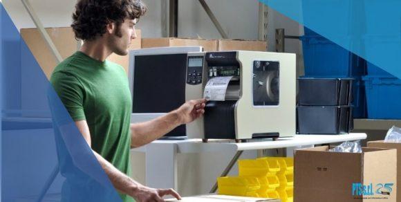 stampante etichette adesive industriale per la gestione magazzino e logistica