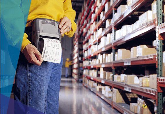 stampante etichette adesive formato portatile per ricevute di consegna, resi, smistamento merce e scaffali di magazzino